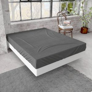 Home Care Jersey Hoeslaken - Home Care Wit 80/90/100 x 200 cm