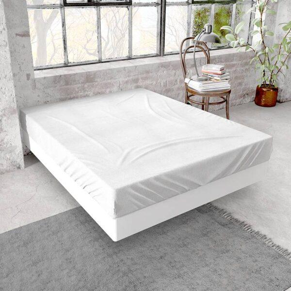 DreamHouse Bedding Flanellen Hoeslaken - Wit 140 x 200/210 cm