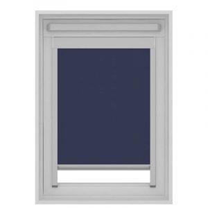 Decosol Rolgordijn Dakraam Cassette Verduisterend - Donker Blauw 55 x 78 cm