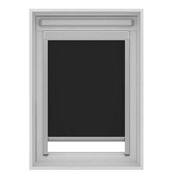 Decosol Rolgordijn Dakraam Cassette Verduisterend - Zwart 55 x 78 cm