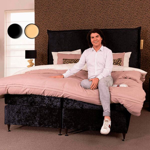 Dekbed Discounter Boxspringset Roy Donders Stoffering: Champagne Velours