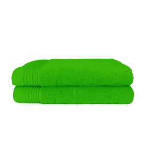 The One Towelling 2-PACK: Handdoek Basic - 70 x 140 cm - Lime Groen