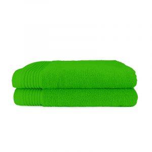 The One Towelling 2-PACK: Handdoek Basic - 70 x 140 cm - Lime Groen