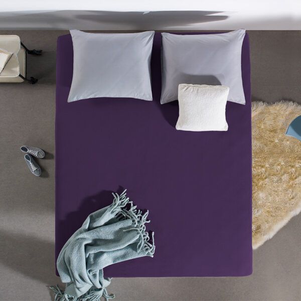 Home Care HC Dubbel Jersey Hoeslaken - Paars 190/200 x 220 cm