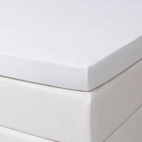 Jersey Stretch Topper Hoeslaken - Wit Dekbed Discounter 80/90 x 200/210