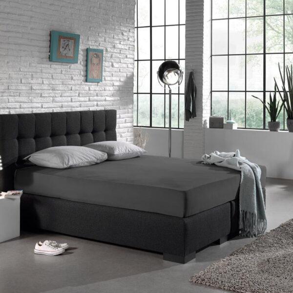 Hoeslaken HC Jersey - Antraciet DreamHouse Bedding 80/90/100 x 200 cm - Ga naar Dekbed-Discounter.nl & Profiteer Nu